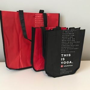 Lululemon reusable bags